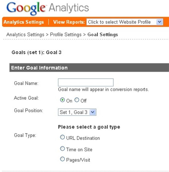 See how to set goals in Google Analytics