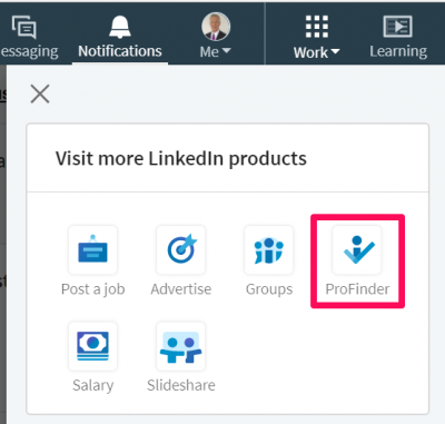 Linkedin Profile Icon on Navigation Bar