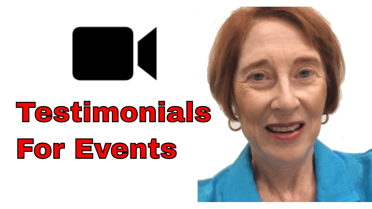 video testimonials for events